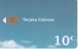B-173 TARJETA DE ESPAÑA DE MOVISTAR CABINAS  DE 10 EUROS DE FECHA 10/16 Y TIRADA 40000 (rozada) (TELEFONICA) - España