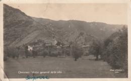 ***ANDORRA **** ANDORRE - ORDINO  Vista General De La Vila -attention Nombreux  PLIS --timbrée France - Andorre