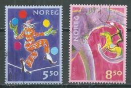 Norvège YT N°1389/1390 Europa 2002 Le Cirque Oblitéré ° - 2002