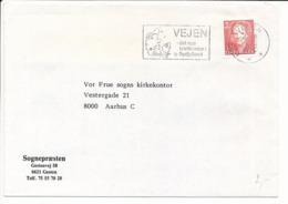 Mi 1028 Solo Commercial Slogan Cover / Definitive - 21 August 1992 Vejen - Danimarca