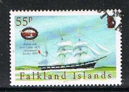 FALKLAND ISLANDS 190819 - 2005 55p Maritime Heritage VF Used - Falklandeilanden