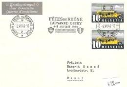 Schweiz Suisse 1946: Zu 276 Mi 311II Yv 432 FDC O FÊTES DU RHÔNE LAUSANNE-OUCHY 6.VII.1946 (Zumstein CHF 600.00) - FDC