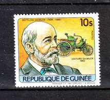Guinea  - 1984. G. Daimler, Storia Dell' Automobile. Car History. MNH - Automobili