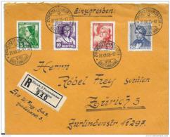 100 - 21 - Enveloppe Recommandée Envoyée De Zürich - Série Pro Juventute 1935 - Storia Postale