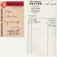 Lot De 2 Petites Factures  / 25 Fuans Doubs / Hôtel Bar Tabac PATTON - 1900 – 1949
