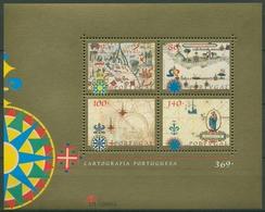 Portugal 1997 Histrorische Kartographie Block 130 Postfrisch (C91212) - Blocks & Kleinbögen