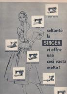 (pagine-pages)PUBBLICITA' SINGER   Tempo1955 - Libri, Riviste, Fumetti