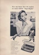 (pagine-pages)PUBBLICITA' RASOIO GILLETTE   Tempo1955 - Libri, Riviste, Fumetti
