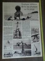 1935 M QUELQUES TABLEAUX DE LA VIE PHYSIQUE SUR LA PLAGE - Vieux Papiers