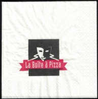 France Serviette Papier Paper Napkin La Boîte à Pizza - Serviettes Publicitaires