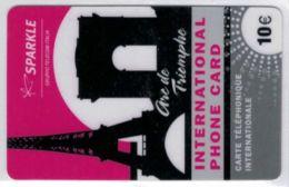 SPARKLE - Gruppo Telecom Italia - Arc De Triomphe - 10 € - Voir Scans - Autres Prépayées