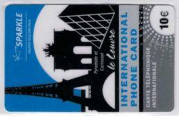 SPARKLE - Gruppo Telecom Italia - Le Louvre - 10 € - Exp 2010 - Voir Scans - France