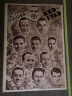 1935 M EQUIPE DE FOOTBALL LE RED STAR BERTRAND DESTOUCHES THURLEY ANDOIRE FINAMORE LANGILLIER ASTON SAS CHANTREL - Vieux Papiers