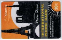 SPARKLE - Gruppo Telecom Italia - Notre Dame - Version 20 € - Exp 2010 - Voir Scans Et Description - France
