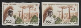MADAGASCAR 1954 YT PA 73** DENTELE ET NON DENTELE - Madagascar (1889-1960)