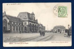 Mons. La Gare Et La Poste. 1905 - Mons