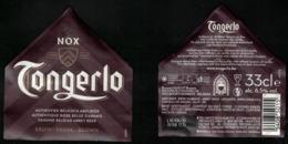 Belgique Lot 2 Étiquettes Bière Beer Labels Tongerlo Nox Brune - Bière