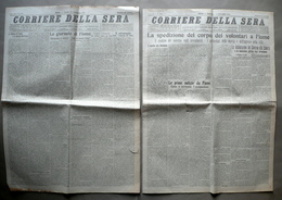 Corpo Volontari A Fiume Giornate Di Fiume Corriere Della Sera 1919 2 Numeri - Non Classificati
