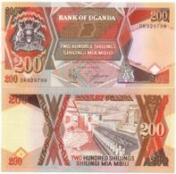 Uganda - 200 Shililngs 1994 AUNC Lemberg-Zp - Uganda