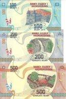 MADAGASCAR 100-200-500 FRANCS ND2017 UNC P 97-98-99 (  3 Billets ) - Madagascar