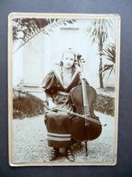 Fotografia Originale Ragazza Al Violoncello Violoncellista Fine '800 Musica - Foto