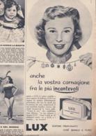 (pagine-pages)PUBBLICITA' LUX(FOTO DI JUNE ALLYSON)   Tempo1955/11. - Libri, Riviste, Fumetti