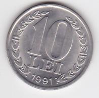 Romania  Roumanie ,  10 Lei , 1991 , Coin - Romania
