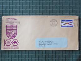 Canada 1970 Cover Winnipeg (MANIPEX) To USA - Manitoba Centennial - Maternite Maternity Slogan - Bison - 1952-.... Elizabeth II