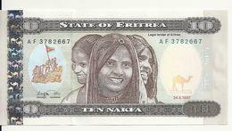 ERYTHREE 10 NAFKA 1997 AUNC P 3 - Erythrée