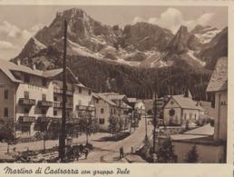 SAN MARTINO DI CASTROZZA-TRENTO-HOTEL=ROSETTA=CARTOLINA VERA FOTOGRAFIA-VIAGGIATA  IL 11-08-1940 - Trento