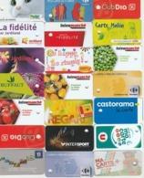 21 MINI CARTES - Cartes De Fidélité Et Cadeau