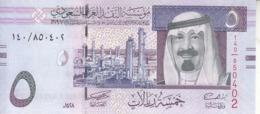 SAUDI ARABIA 5 RIYAL 2007 1428 P-32a KING ABD ALLAH NEW UNC - Saudi-Arabien