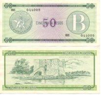 CUBA 1985 - SERIE B / 50 PESOS - FX10 - RARE FX CERTIFICATE BANKNOTE  -  VF+ - Cuba