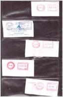 Maroc. Poste. Timbres. 5 Oblitérations Mécaniques. Tarifs Différents. - Maroc (1956-...)