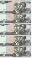 COREE DU NORD 10 WON 2009 UNC P 59 ( 5 Billets ) - Corée Du Nord