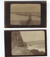 Conjunto De 2 Postais Fotograficos Sepia: MILITAR No FORTE De S.JULIAO Da BARRA / Oeiras / PORTUGAL WWI 1915 - Lisboa