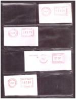 Maroc Poste. Timbres. 4 Oblitérations Mécaniques. Tarifs Différents. - Maroc (1956-...)