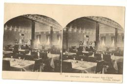 """S7720 -Chicago - La Salle à Manger Dans L' Hôtel Victoria """" Carte Stéréoscopique - Chicago"""