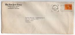 Pays-Bas -- 1955 --Lettre D'AMSTERDAM Pour PARIS (France)--personnalisée NEW YORK TIMES-cachet - Period 1949-1980 (Juliana)