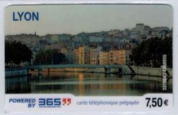 365 - Lyon 7.50 € - Modèle 2 - Code Gratté - Voir Scans - Autres Prépayées
