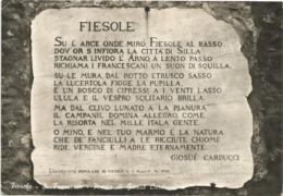 W4762 Fiesole (Firenze) - San Francesco - Poesia Di Giosuè Carducci / Viaggiata 1964 - Italia
