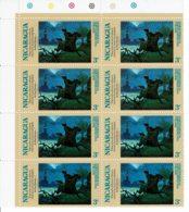 NICARAGUA - 1975 - Indépendance Des Etats Unis - Paul Revere - 8 Tp N° 1000 - Nicaragua
