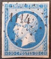 R1917/274 - NAPOLEON III N°14B - PC 1114 : DOMPAIRE-LAVIEVILLE (Vosges) INDICE 6 - 1853-1860 Napoléon III