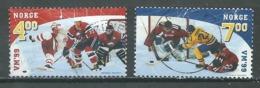 Norvège YT N°1267/1268 Championnat Du Monde De Hockey Sur Glace Oblitéré ° - Norvège