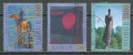 Norvège YT N°1244/1246 Art Contemporain Oblitéré ° - Norvège