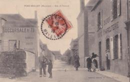 CPA  :  Port Brillet (53)  Rue De Boizard   Animée  Duroy Café Charcuterie   Ed Salmon  Cachet Averton - France