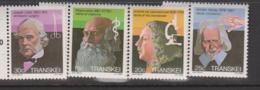 South Africa-Transkei SG 108-111 1982 Celebrities Of Medicine,Mint Never Hinged,$ 2.00 - Transkei