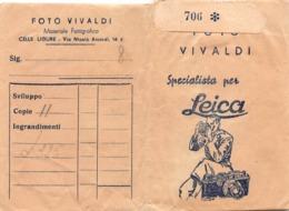 """0735 """"FOTO VIVALDI - SPECIALISTA PER LEICA - CELLE LIGURE (SV) - CUSTODIA PER NEGATIVI E PROVINI"""" ORIGINALE - Materiale & Accessori"""