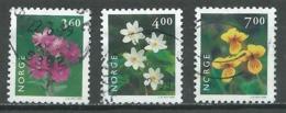 Norvège YT N°1256/1258 Fleurs Oblitéré ° - Norvège