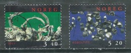 Norvège YT N°1242/1243 Minéraux Oblitéré ° - Norvège
